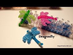 ▶ How to make Dragonfly Charm - Rainbow Loom - Insect Series - YouTube