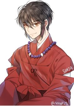 human Inuyasha (with short hair!) OMG This is so sexy!