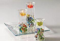 Symmetry Trio with coloured marbles  Www.partylite.biz/enchantedscents