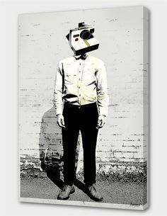 """""""Polaroid Man"""", Numbered Edition Canvas Print by Koning - From $69.00 - Curioos"""