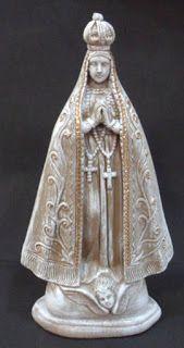 Ateliê Le Mimo: RELIGIOSO Nossa Senhora 40cm altura - peça em gesso.