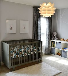 Decorate with cool gray for a more serene #nursery.