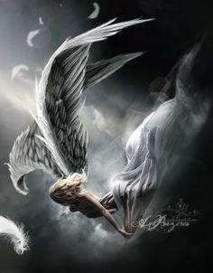 Angel without wings Marah Woolf, Dark Fantasy, Fantasy Art, Angel Artwork, Angel Warrior, Ange Demon, Angel And Devil, Angel Pictures, Angels And Demons