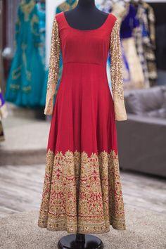 Deep Maroon Bridal Anarkali