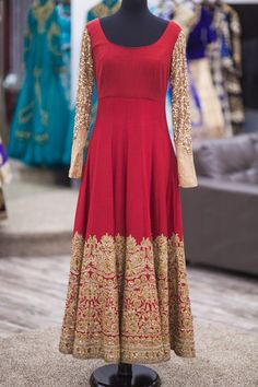 Deep Maroon Bridal Anarkali