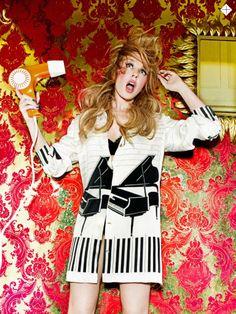 Kylie Minogue blow drying her hair for Stylist Magazine 2014 | by Ellen Von Unwerth / RLD