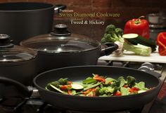 Premium Swiss Diamond CookwareCookware at it's Finest... The increased demand for premium cookware brings us to Swiss Diamond® cookware features a patented nonstick cooking surface reinforced with real diamond crystals