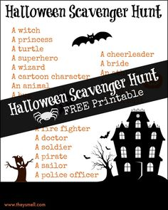 Make Halloween and trick-or-treating a little more fun with this free Halloween scavenger hunt printable. Hunt for 20 different costume types.