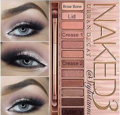 makeup types eyeshadow makeup revolution eyeshadow palette ultra 32 makeup eyeshadow makeup tips with pictures makeup use makeup looks step by step makeup games Maquillage Urban Decay, Urban Decay Makeup, Urban Decay Smokey Palette, Urban Decay 3, Urban Decay Eyeshadow, Kiss Makeup, Love Makeup, Hair Makeup, Eyeliner Tutorial
