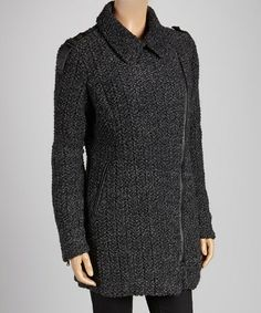 Take a look at this Dark Gray Dean Coat by OXMO on #zulily today! $100 !!