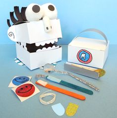 Channel your inner dentist with this DIY bag of dental tools and peppy patient! This would be perfect for February as National Children's Dental Health Month!