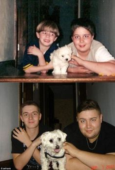 Now and then: Cringeworthy pictures of people recreating photos years later (and they look pounds heavier and a thousand times more awkward) Pictures Of People, Old Pictures, Old Photos, Photo Recreation, Funny Memes, Hilarious, Kodak Moment, Back To The Future, Picture Captions