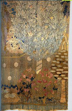 rosebiar:    'Summer Nights Dream' tapestry design by Frida Hansen, produced in 1899.
