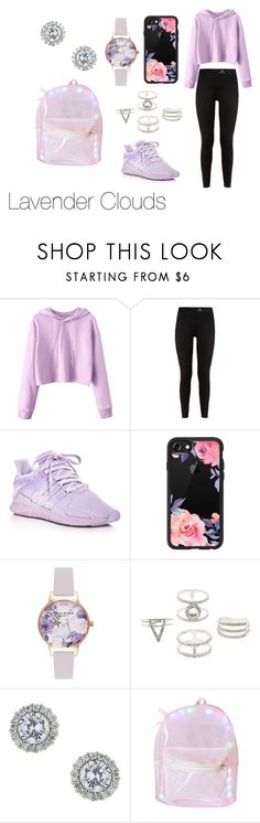 """""""Lavender Clouds"""" by itsmylife-sandra ❤ liked on Polyvore featuring adidas, Casetify, Olivia Burton, Charlotte Russe and Miss Selfridge"""