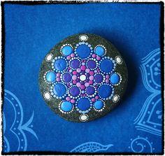 Jewel Drop Mandala Painted Stone Happy Hues by ElspethMcLean