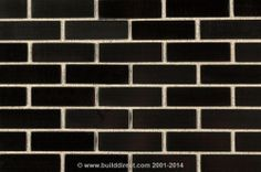 Mosaic Tile - Metal Series - Black Brick Pattern