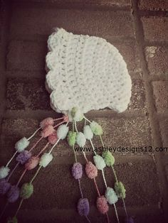 Ravelry: Sweet Pea Bonnet (Newborn - 12 Months) pattern by Ashley Brooke
