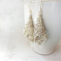 wire Crocheted jewelry | Wire Earrings, Prom Jewelry, Wire Crochet Jewelry, Wedding Jewelry ...