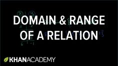 Domain and range of a relation | Functions and their graphs | Algebra II...