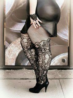 Plus size stockings beauty