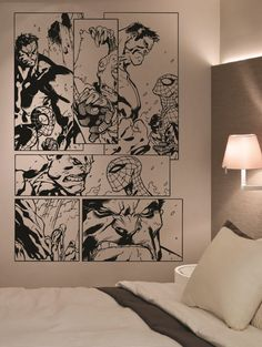 Giant Hulk Spiderman Comic Vinyl Wall Art Sticker Home Decor Living Room Bedroom on Etsy, $65.35