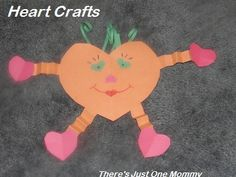 heart character -- simple Valentine's Day craft for kids from There's Just One Mommy