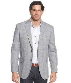 Tasso Elba linen plaid light grey $99 http://www1.macys.com/shop/product/tasso-elba-blazer-island-linen-blend-plaid-sportcoat?ID=786905=16499=PDPZ1