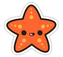Kawaii stickers featuring millions of original designs created by independent artists. Cute Animal Drawings Kawaii, Cute Easy Drawings, Kawaii Doodles, Cute Doodles, Kawaii Stickers, Cool Stickers, Starfish Drawing, Griffonnages Kawaii, Homemade Stickers