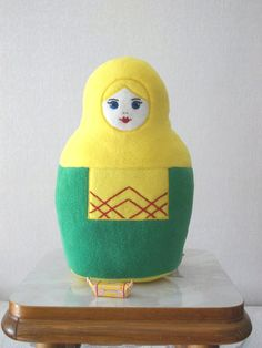Russian doll, #Matryoshka, stuffed soft handmade doll, russian girl doll,   $35.00 USD