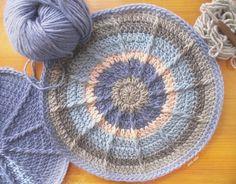 Funda cojín crochet. Pillow