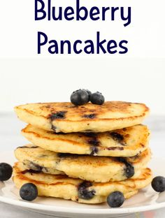 Blueberry Pancakes are filled with fresh blueberries for a delicious blueberry breakfast meal. - Blueberry Pancakes Recipe from Sugar, Spice and Family Life Blueberry Breakfast, Blueberry Pancakes, Blueberry Recipes, Lemon Pancakes, Brunch Recipes, Breakfast Recipes, Breakfast Ideas, Brunch Food, Pancake Recipes