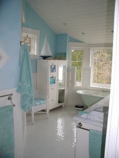 Sea blue Bathroom