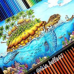 Done! Mythomorphia by:@kerbyrosanes . Watercolor Daniel Smith, crayons Prismacolor Premier, Carandache Luminance #mythomorphia #imagimorphia #animorphia #kerbyrosanes #desenhoscolorir #coloriage #artecomoterapia #coloring_secrets