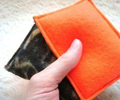 fleece hand warmers crafts   Crafts / Hunter's Hand Warmers BLAZE & CAMO Fleece Rice Bags Reusable ...