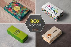 Box / Packaging Mockups by h3design on @creativemarket