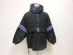 VTG 90s Starter Colorado Rockies Pullover Puffer Coat Jacket sz XL Extra Large #Starter #ColoradoRockies  #tcpkickz