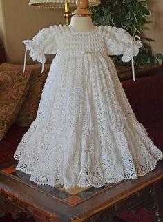 Vestido de bautizo blanco/bendición con por CherryHillCrochet