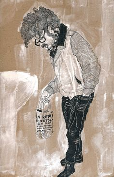 People of Berlin, Neukoelln on paper trash Editorial Illustration, Travel Illustration, Sketchbook Pages, Monochrom, Drawing, Berlin, Illustrations, Ink, Character