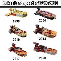 🇱🇷All LEGO Star Wars Luke's Landspeeders! Star Wars Luke, Lego Star Wars, All Lego, Chocolate Art, Stars, Toys, Star