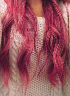 Pink hair.