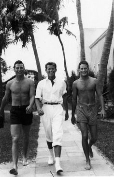 Bill Coleman, Jack, and Zeke Coleman in Palm Beach, circa 1935-1936. Courtesy of Rose Kennedy Family Album