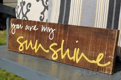You are my Sunshine Reclaimed Wood by PBJstories on Etsy