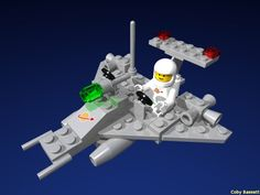Lego Set this simple little ship. Lego Robot, Lego Duplo, Old Lego Sets, Lego Space Sets, Lego Display, Lego Club, Awesome Toys, Cartoon Toys, Vintage Lego