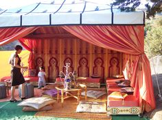 Moroccan Tent in backyard | by dj venus