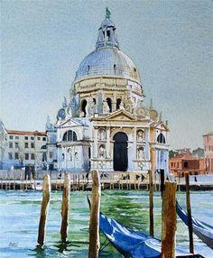 """Salute lV Blue covers"" - Original Fine Art for Sale - © David Morris"