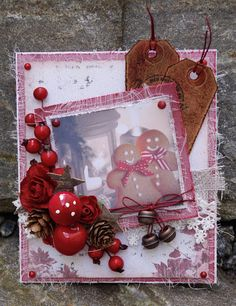 Hello Everyone :-) Today it is my last post as Guest Designer for Noor! Design Becuse of the New challenge in the Noor! Christmas Time, Christmas Cards, Christmas Ornaments, Norwegian Christmas, Hello Everyone, Gift Wrapping, Holiday Decor, Design, Christmas E Cards