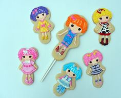 Lalaloopsy cookies...big one in middle is a cake topper!  by Vicki's Sweets