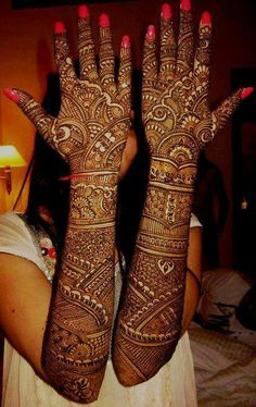 Bridal mehndi- so awesome! i wish this was possible for me but i think its too much                                                                                                                                                      More