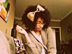 (Hair Style: Afro)  Length: Medium/Shoulder Length