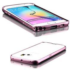 Original UrCover® Aluminium Bumper für das Samsung Galaxy S6 Edge [DEUTSCHEN FACHHANDEL] Alu Schutzhülle Zubehör Hülle Schale Rosa Pink Rose Clip Klickverschluss 15,90€
